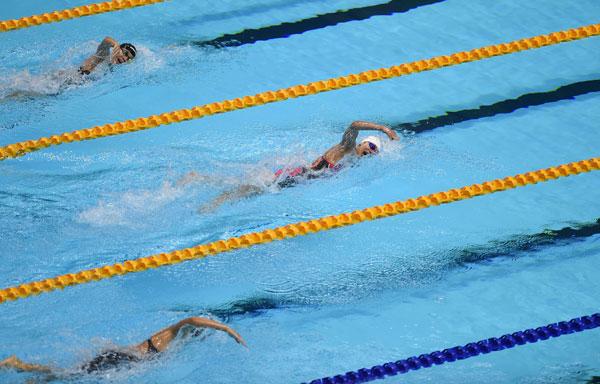 大马选手在游泳赛场表现欠佳。(法新社)