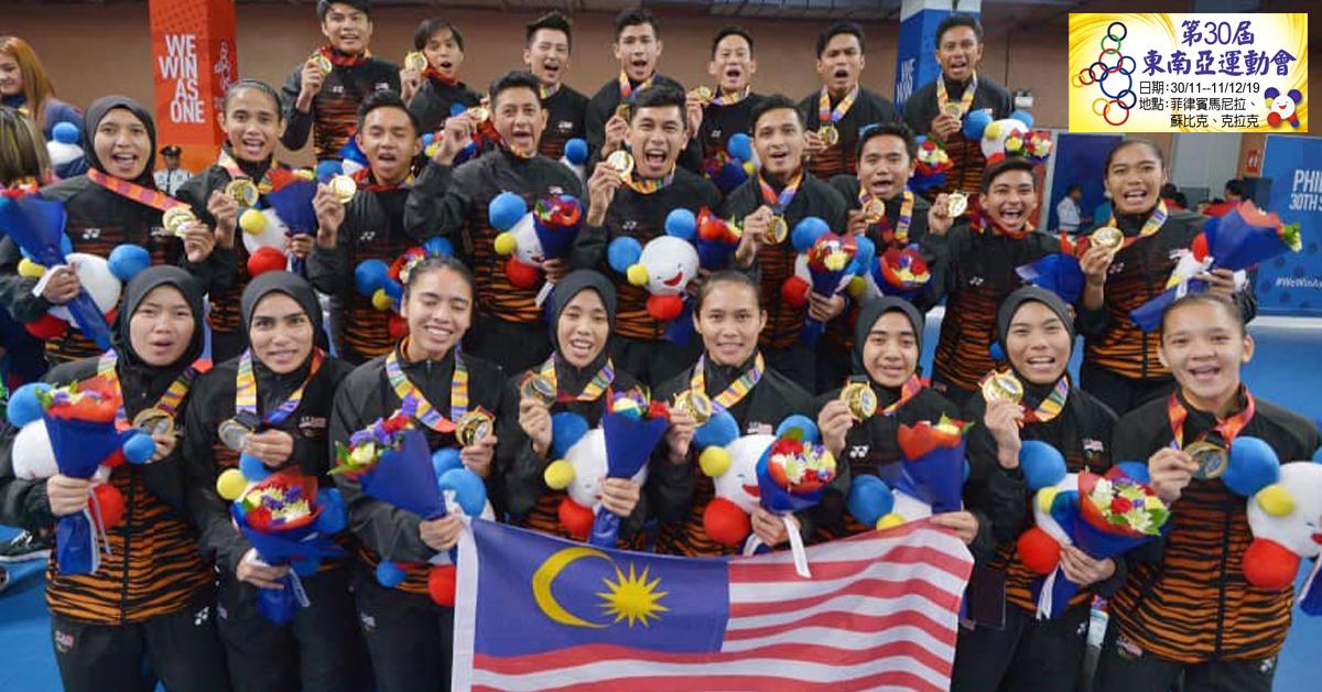 男、女室内钩球队,赢得了马来西亚代表团在本届赛会的最后两面金牌。(国家体育理事会面子书图片)