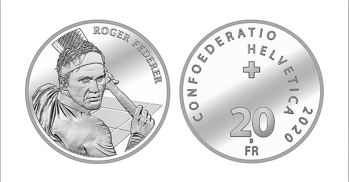 瑞士网球天王费特勒登上了当地的银币。(法新社)