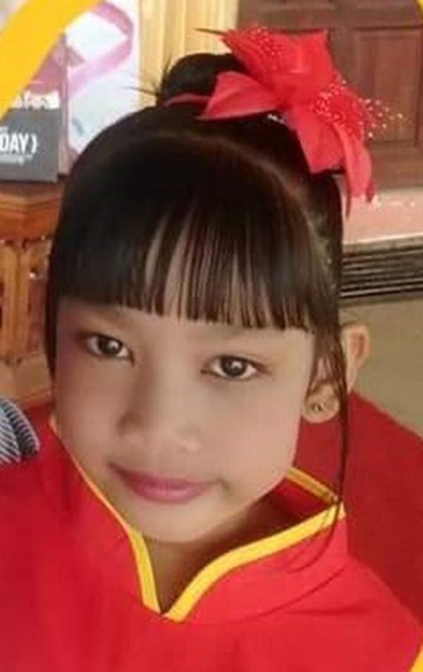 不幸坠河溺毙的女童努蒂雅。