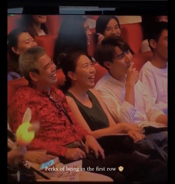 徐凯(右)事后也在IG限时动态PO上爸爸(左)被翻牌的短视频。