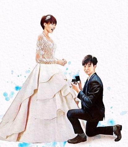 新加坡已故艺人冯伟衷跪下向胡佳琪求婚画作,一度引起网民关注。