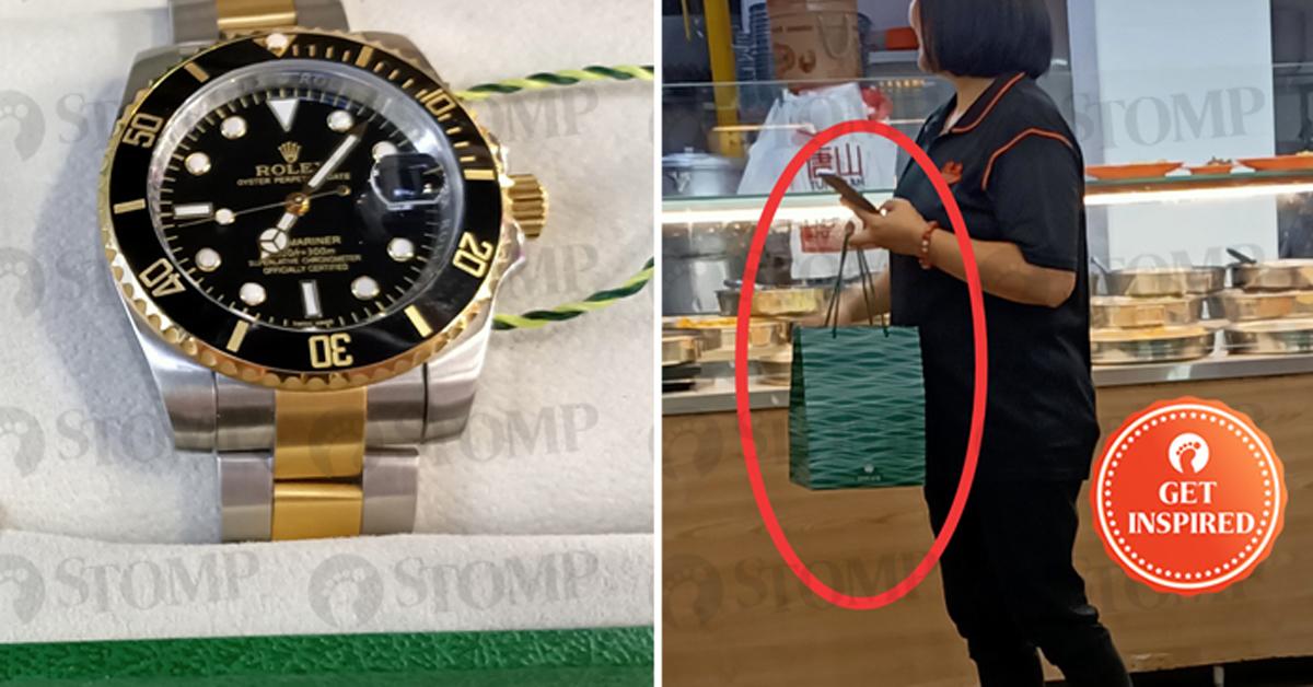男子遇到拾金不昧的夜班主管,把装着劳力士手表的纸袋妥善保存,等他回来领取。