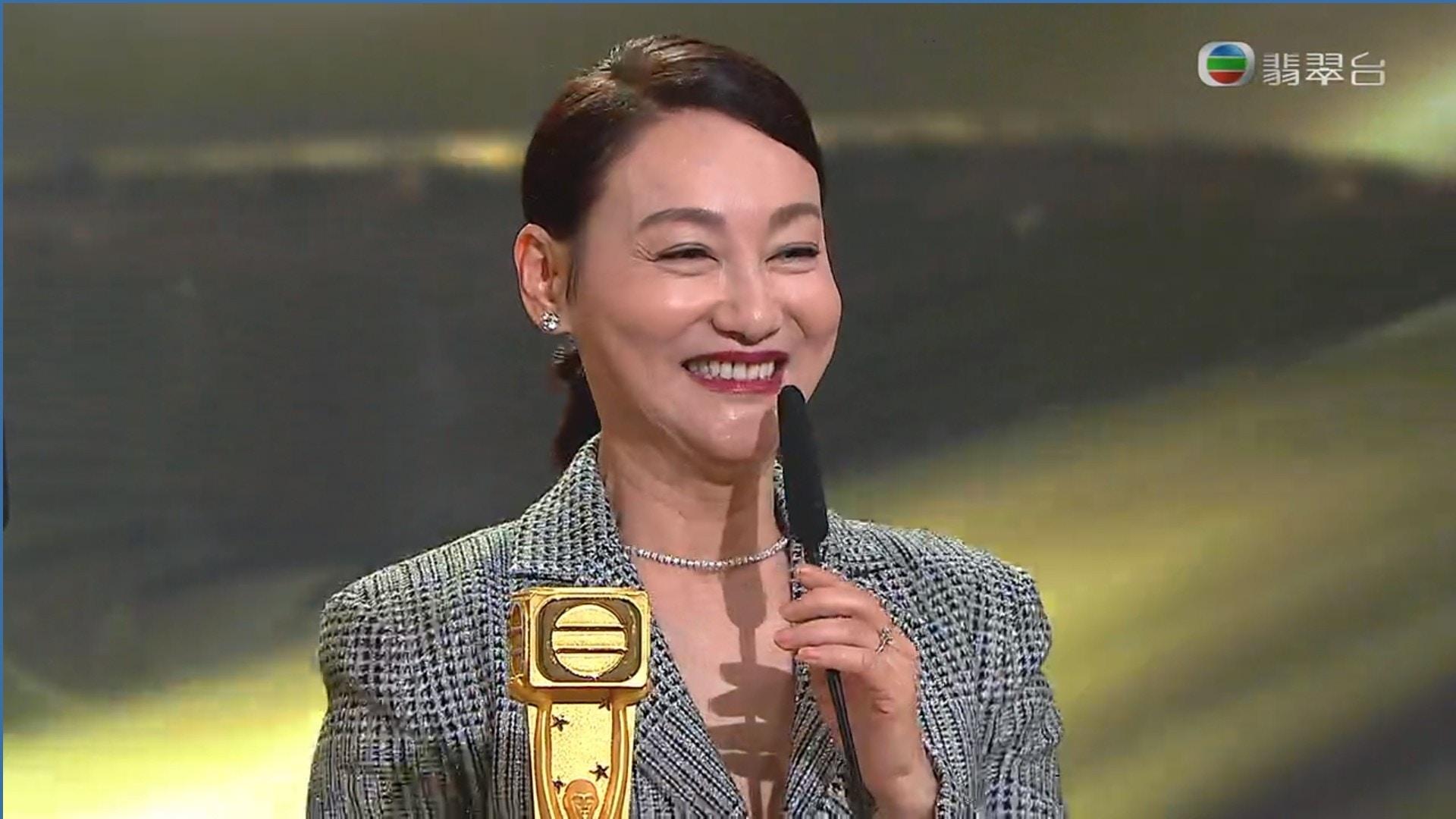 视后惠英红成为第2位集影后、视后奖于一身的演员。