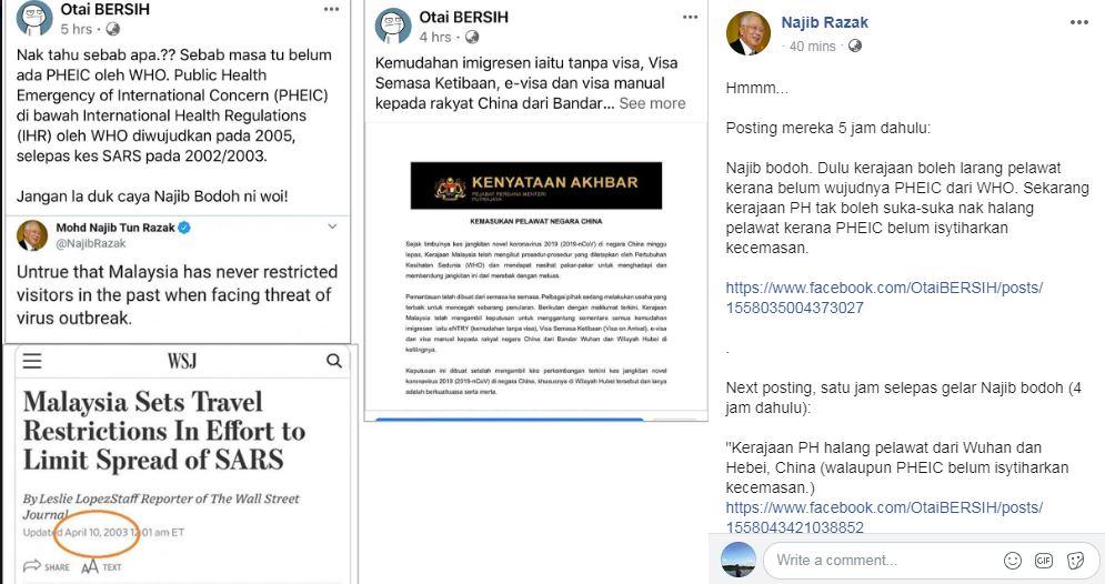 """纳吉揶揄""""Otai BERSIH""""面子书专页的社交媒体""""打手""""努力捍卫希盟政府,令他真的要向他们致敬。"""