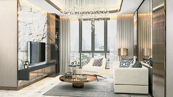 Sinaran 服务式公寓客厅,让屋主闲暇时可以与家人在此,度过温馨的亲子时光。