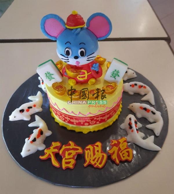 数款老鼠设计的造型蛋糕推出,向大家贺年。