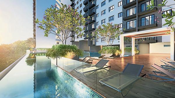 尽管是可负担房屋领域,但在休闲设施上也精心设计,其中包括无边际泳池。