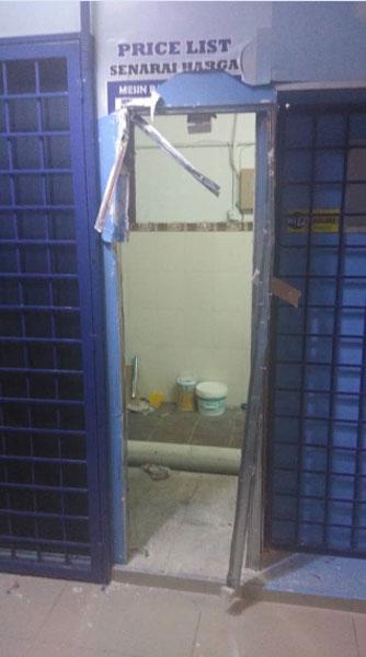 匪徒盗走兑币机和12桶液化石油气桶,令业者损失惨重。