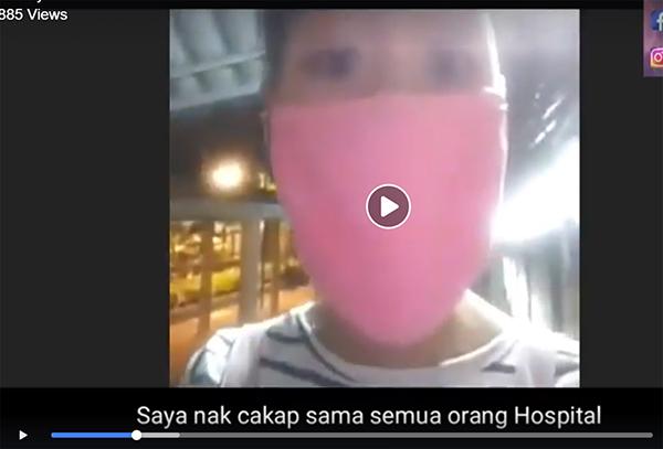 網民把潑婦謾罵醫務人員的直采視頻剪接,並寫下字幕。
