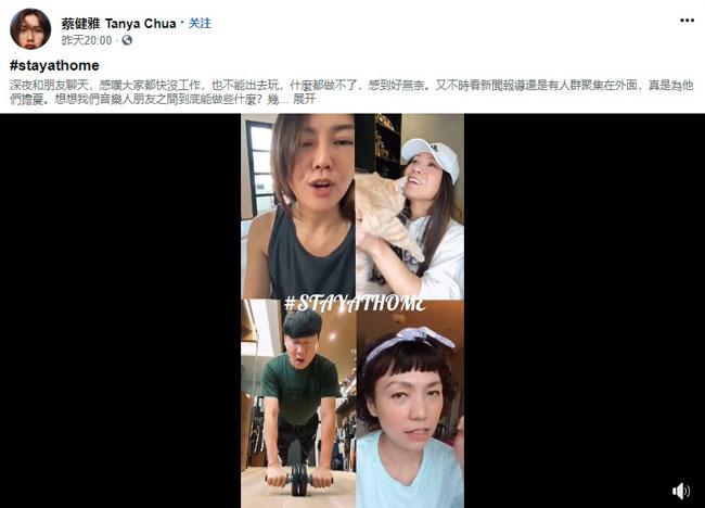 蔡健雅和朋友聊天,感叹大家快失业了。(图:FB)