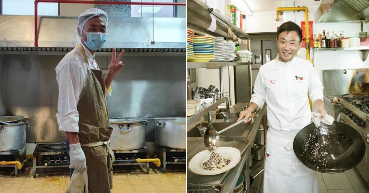 陈喜明每天为客工准备三餐,在厨房劳碌至少17至18小时。(取自面子书)
