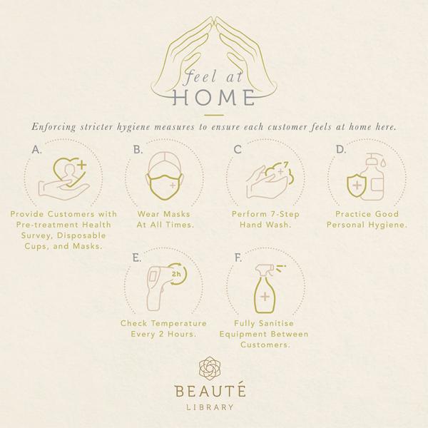 """Beaute Library提供6大防疫措施,让顾客""""Feel at Home""""一样安全!"""