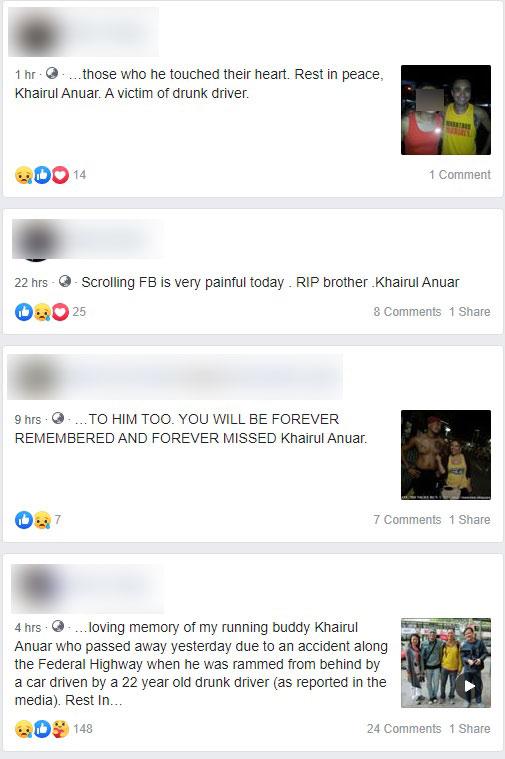 不少好友发文哀悼莫哈末凯鲁。