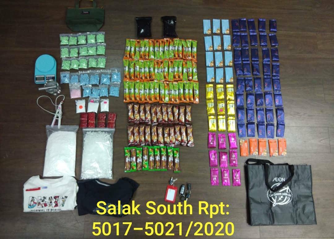 警方侦破2宗毒品案,起获93万5150令吉的各类毒品。