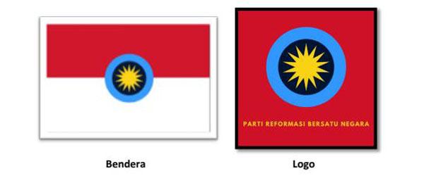 社交媒体流传的国家团结革新党旗帜与党徽设计。