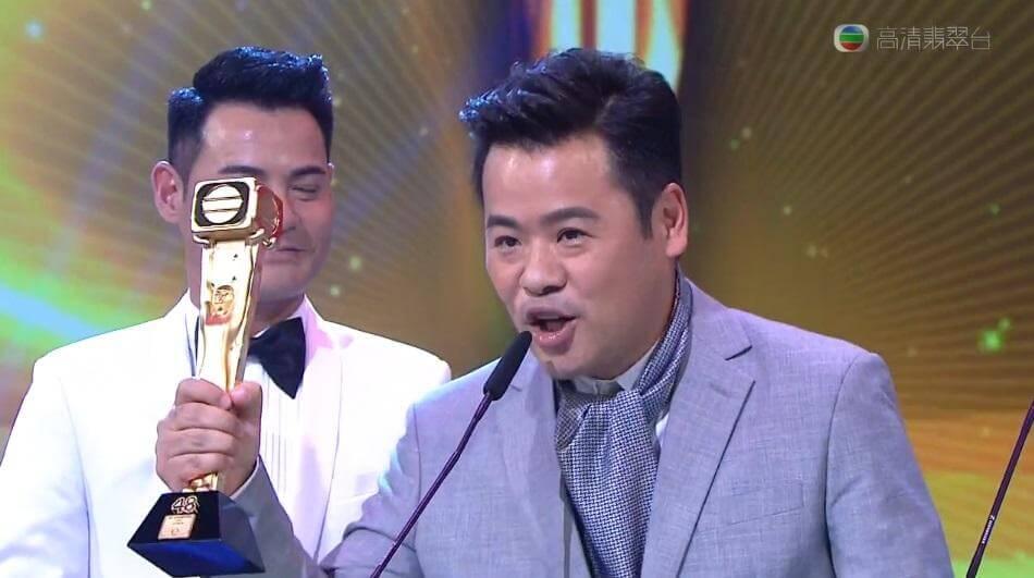2015年台庆颁奖礼,韦家雄凭《枭雄》夺得最佳男配角。
