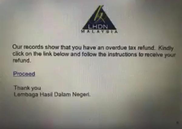 退税电邮是骗局,不要再上当!