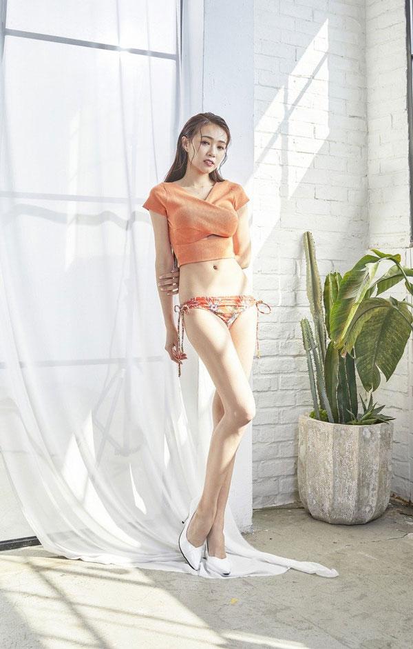 丫头成功瘦回纤瘦体态。