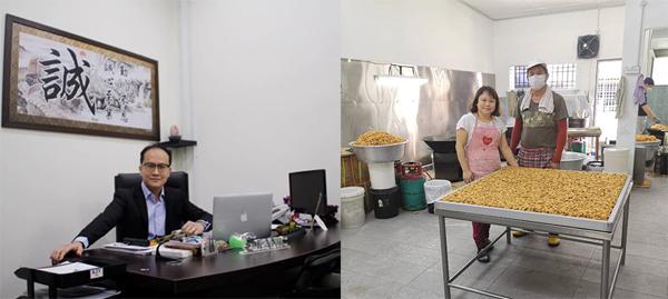 """吕毅诚(左)与卢丽君都受惠于""""MELODY支持中小型企业活动""""。"""