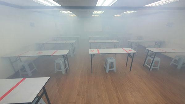 课室都进行全面消毒。