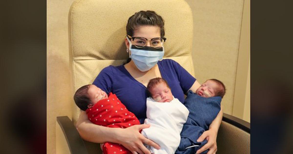 美国孕妇确诊新冠肺炎后,历经1个月左右的治疗,顺利产下健康三胞胎。