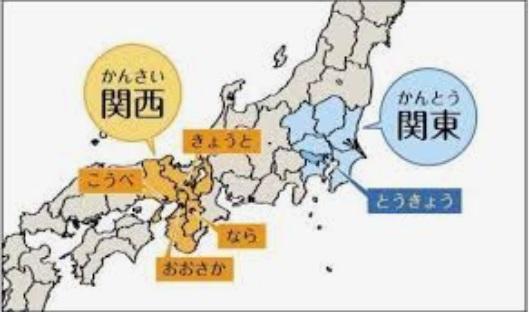 日本关东地理位置图。