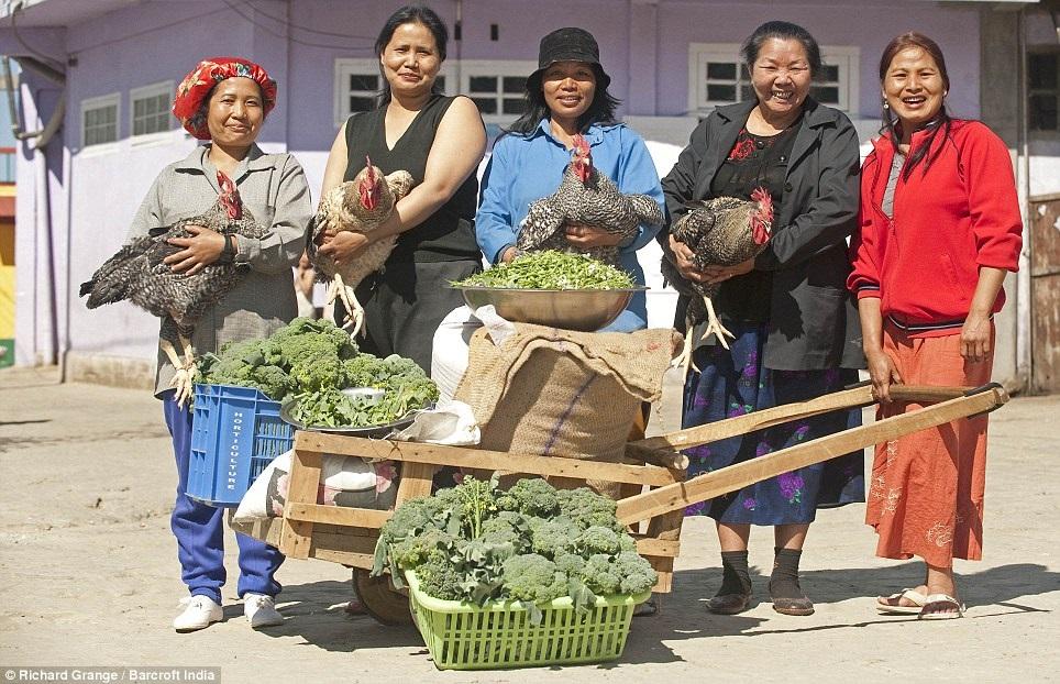 他们光一餐就要吃掉30只鸡、60公斤马铃薯、约100公斤的米,因此他们家后院也种了很多蔬菜、养了一些牲畜。