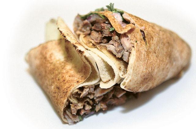 阿拉伯国家知名小吃沙瓦玛。(档案照)