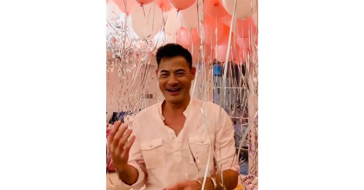 黄智贤为太太准备了一个浪漫生日惊喜,相伴30年还愿意花心思,很是难得!图/影片截图