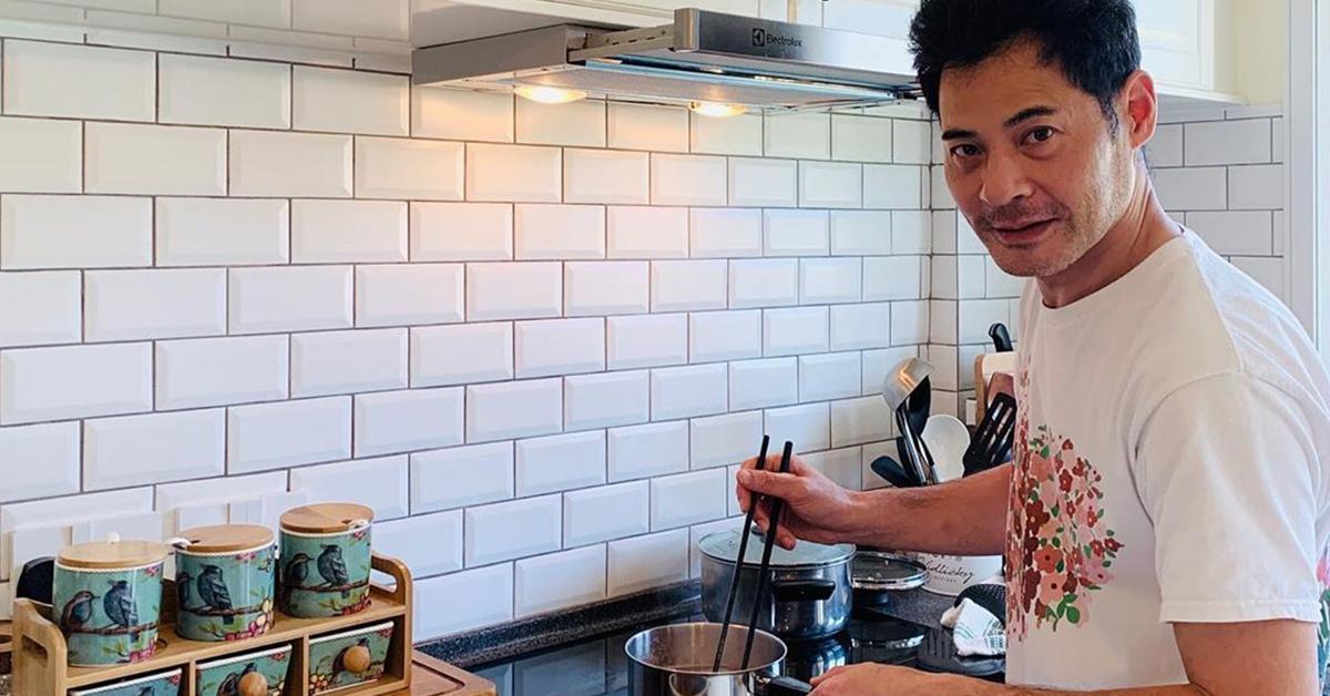 """黄智贤与太太结缘于厨房,近日疫情关系,他也化身""""煮""""家男,不时炮制美食给老婆!图/IG"""