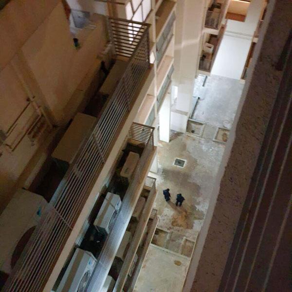 少女从5楼坠下。(受访者提供)