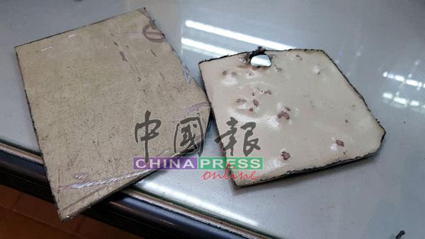 存放零钱的小型保险箱被锯成碎片,逾千令吉现款被偷走。