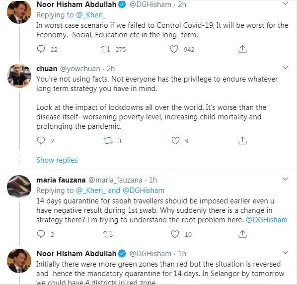 網友對政府實施行動管提出質疑,諾希山逐點作出解釋。
