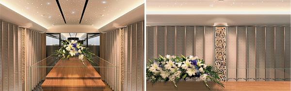 朝陵豪华水晶棺车内设有升降台把棺木从底层升到上层;内部设计皆采用高级材料制成。