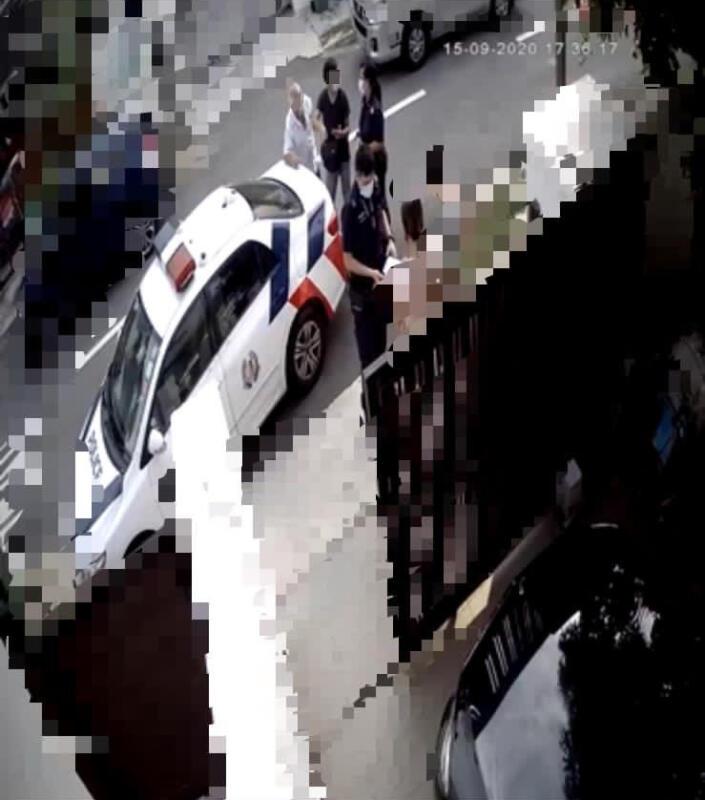 据詹道嵩出示的电眼视频,双方僵持不下一度惊动警方到场。(受访者提供)