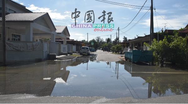 阿赖柏达纳花园马路经常出现淹水情况。
