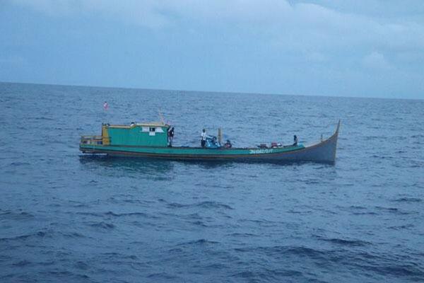 3名失踪渔夫所属的渔船。