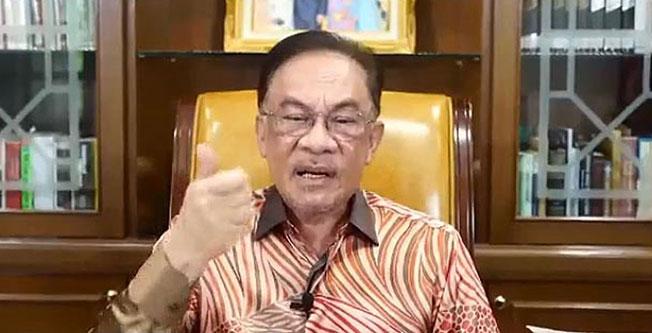 安华声称,有115名国会议员反对颁布紧急状态。