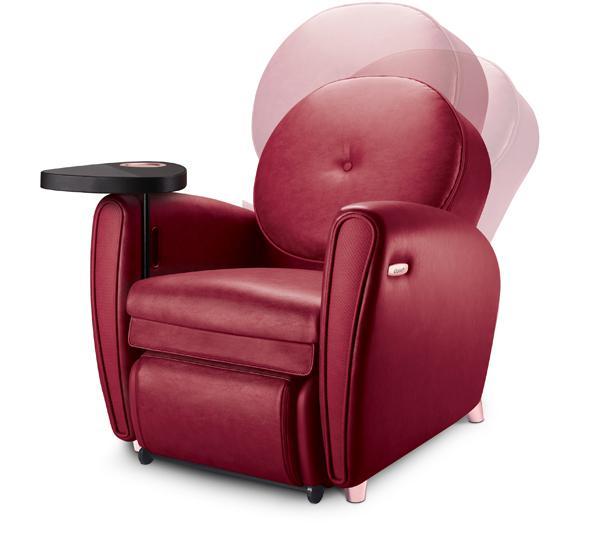 简易转换沙发、坐式和躺式按摩椅模式。