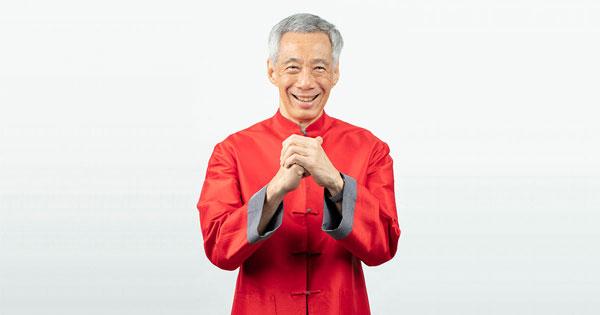 李显龙于年除夕(初二)发表新春献词,祝福人民新年快乐。