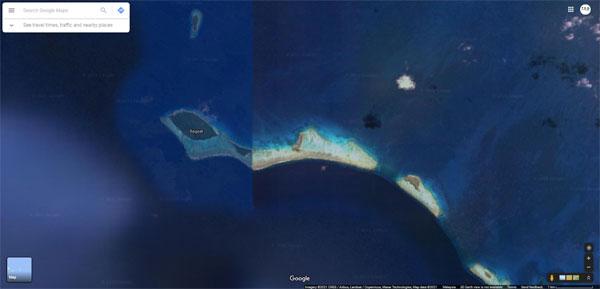 Google Maps这岛 形状好特别