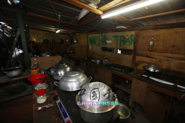 宿舍的厨房,卫生环境不理想。