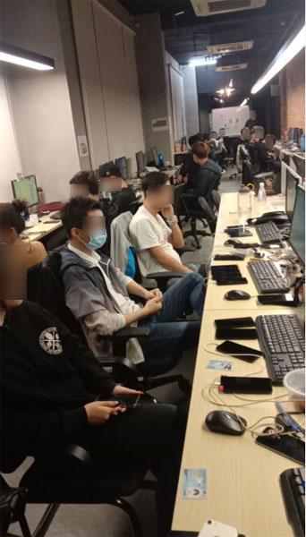 年轻男女受雇为诈骗集团操盘骗局,专骗中港台受害者。