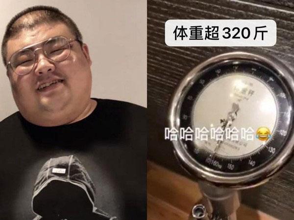 泡泡龙曾公布体重破160公斤。