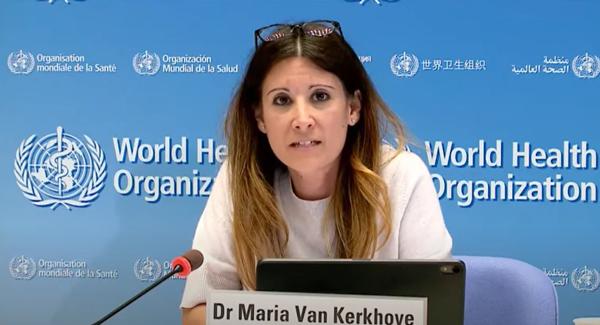 世卫组织卫生紧急项目技术主管玛丽亚·范·科霍夫。