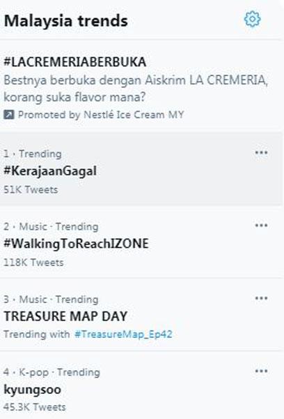 #失败政府(#KerajaanGagal)标签成为大马推特第一热门标签。