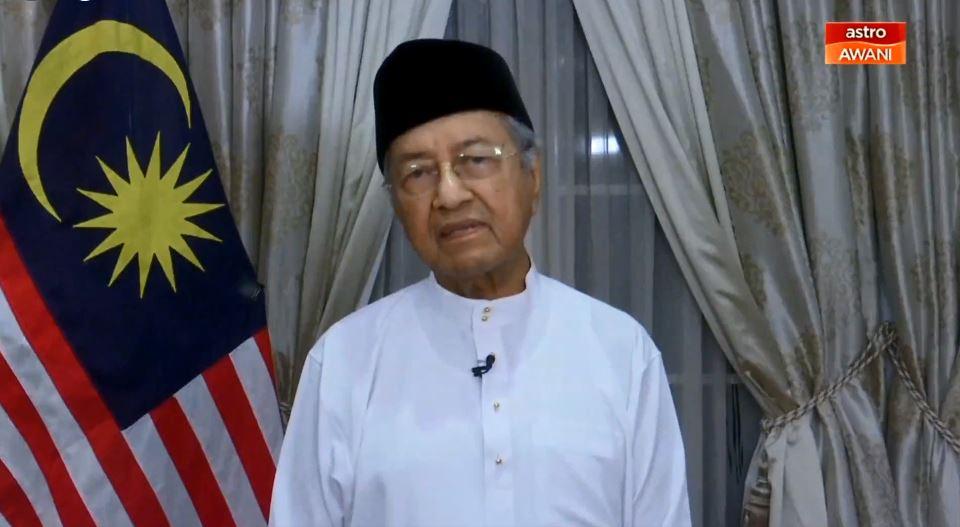 马哈迪在直播视频中,谴责以色列对巴勒斯坦的攻击行动。