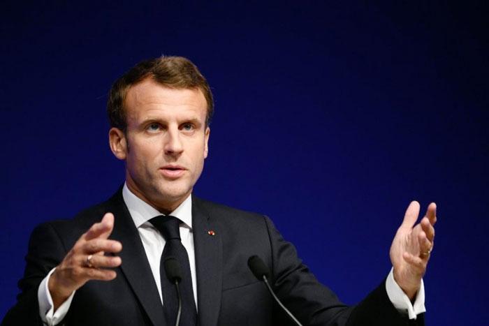 法国总统马克龙说,窃听事件不可接受。