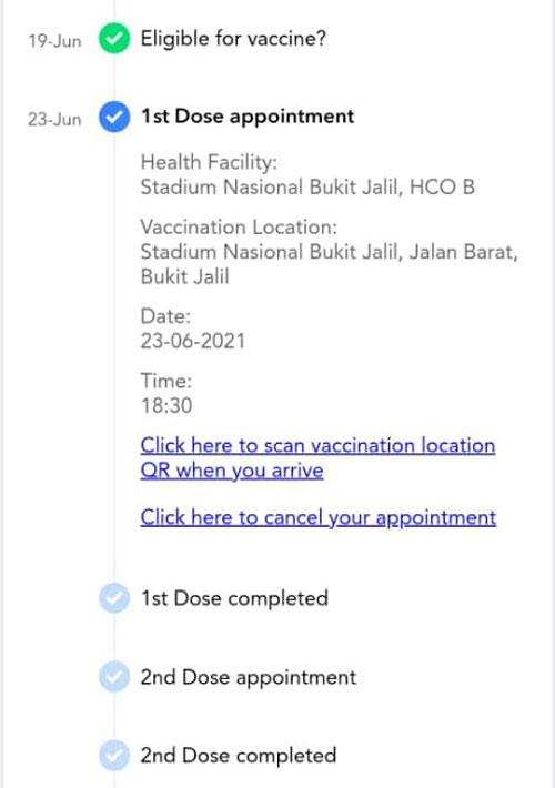 许多40岁或以下的雪隆民众,都已接获在武吉加里尔体育馆新冠肺炎疫苗接种中心的接种预约。